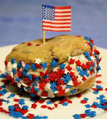 Memorial Day Ice Cream Cookie Sandwiches