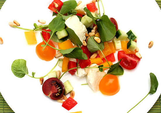 Tomato, Watercress and Mozzarella Salad