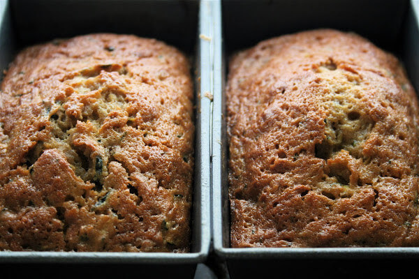 Two loaves of mini zucchini bread.