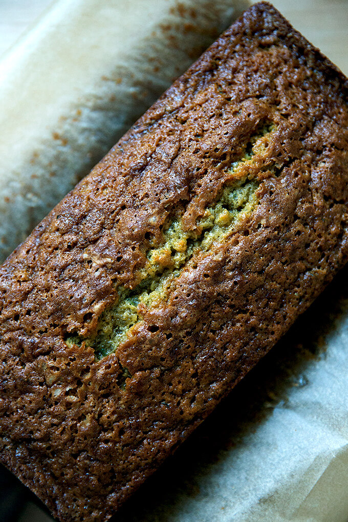 Just baked zucchini bread.