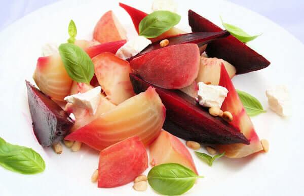 Peach and Beet Salad