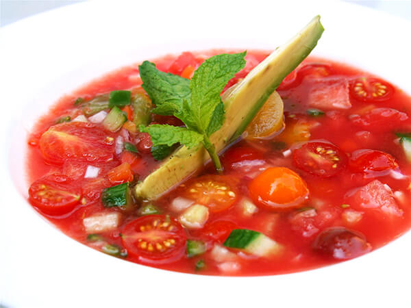 Watermelon Gazpacho & Watermelon Salad - Alexandra's Kitchen
