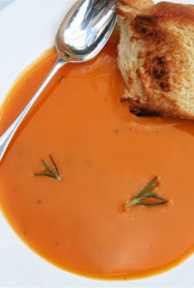 Rosemary-Butternut Squash Bisque & Challah