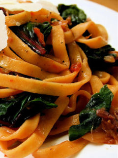 swiss chard + stems pasta