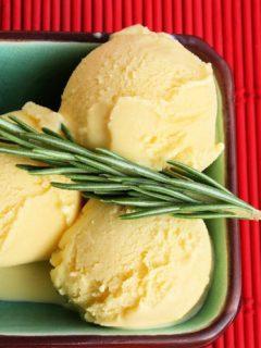 rosemary goats milk gelato