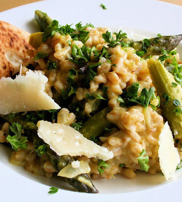 Farro Risotto with Asparagus