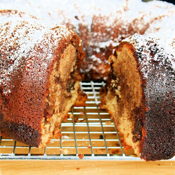This marble cake is incredibly delicious and irresistible. I wake up every morning thinking about it — thus far, the cake has gotten better and better with each passing day. // alexandracooks.com