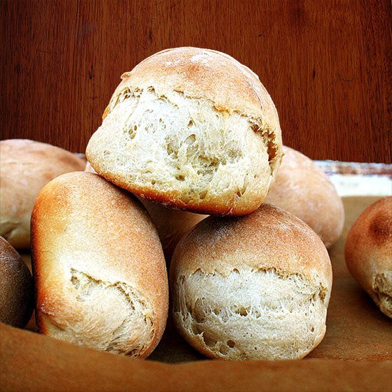 These buttermilk dinner rolls I have devoured in a day-and-a-half. The loaf, I sliced and freeze and have been toasting every morning, spreading with apple butter, cinnamon and sugar, and sometimes just butter and salt. So yummy. // alexandracooks.com