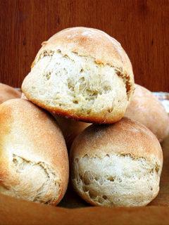 Honey buttermilk rolls.