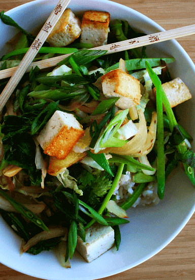 Stir-Fried Veggies and Tofu