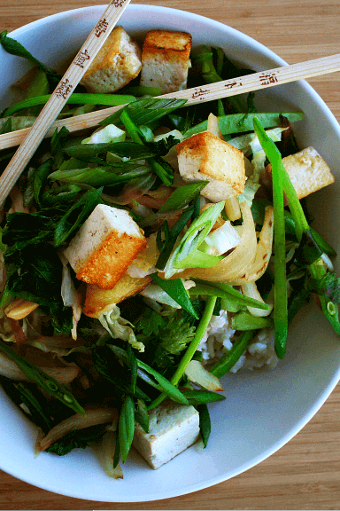 Stir-Fried Veggies and Tofu