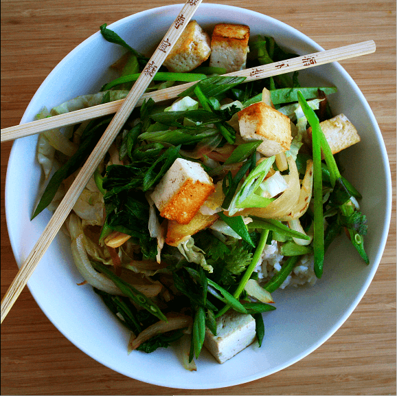 Sometimes all I want for dinner is a big bowl of steaming rice (or noodles) topped with stir-fried veggies, tofu, perhaps a little meat, and, maybe (always) a fried egg. And so, my friends, I ask you, what makes a good but simple stir-fry? // alexandracooks.com