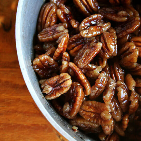 The Best Candied Pecans, Delicious on Salad