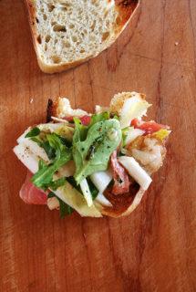 Prosciutto, Endive & Shaved Manchego Salad with Tarragon-Shallot Vinaigrette