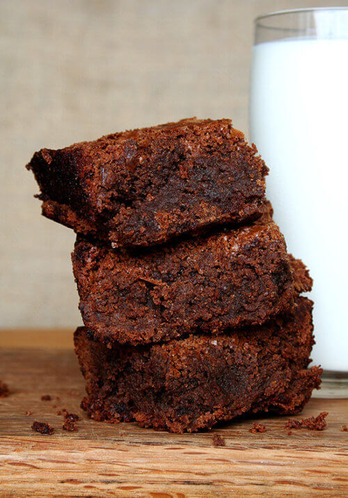 This is my favorite brownie recipe. I discovered this recipe in a magazine three years ago and have not tried another brownie recipe since. These brownies are it. // alexandracooks.com