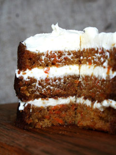 Ultimate carrot cake with cream cheese frosting