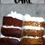 A sliced carrot cake.