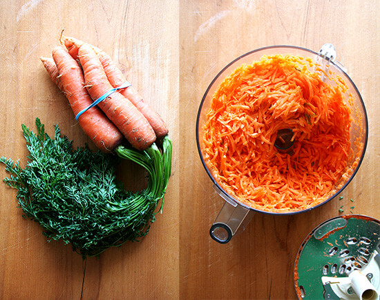 carrots whole and shredded