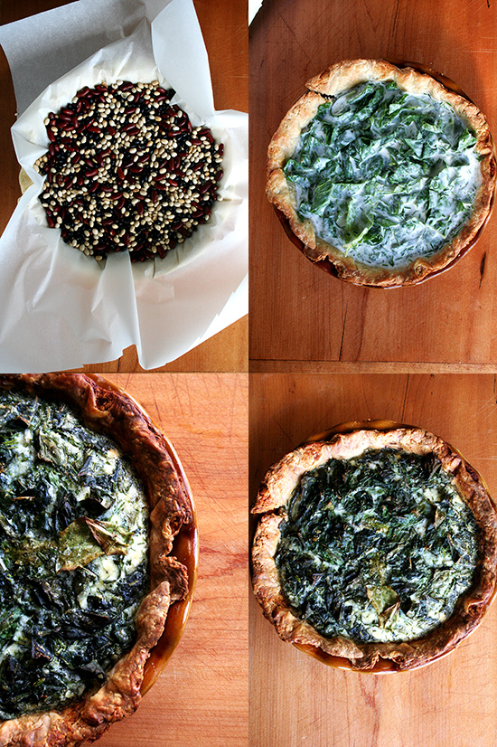 The custard, a ratio of 1 cup crème fraîche to 1 cup whole milk to 5 eggs, makes Tartine's Swiss chard quiche so fabulous. It's smooth with a slight tang and utterly delicious. // alexandracooks.com