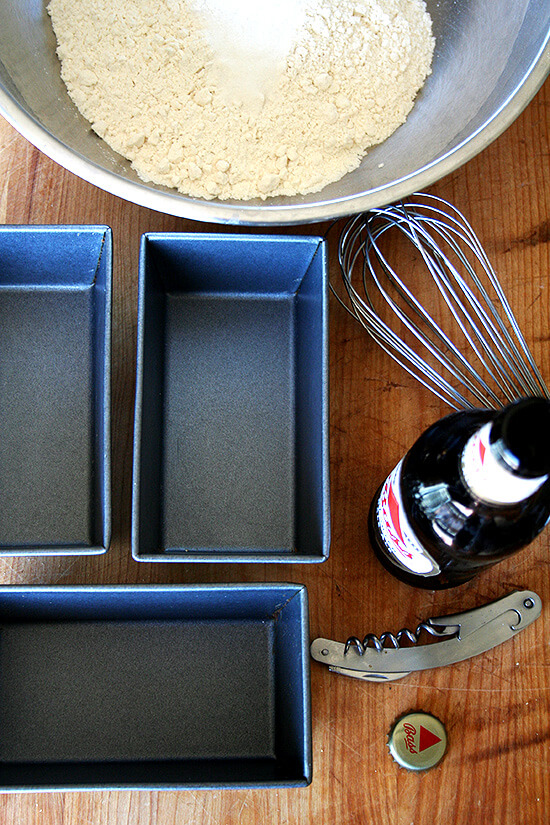 beer bread mise en place