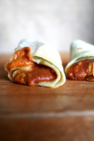 Bean & Cheese Burritos, Beef Tacos & Homemade Flour Tortillas