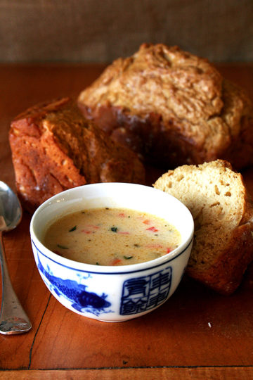 Vermont Cheddar Cheese Soup & Beer Bread