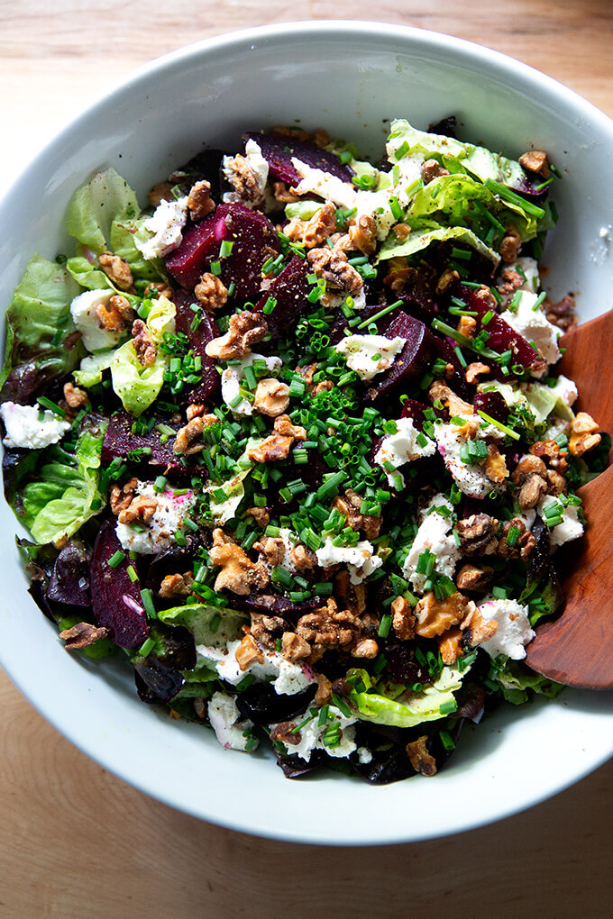 Beet salad in a bowl.