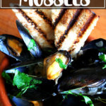 A bowl of Balthazar's Simple Moules Marinière (Mussels).