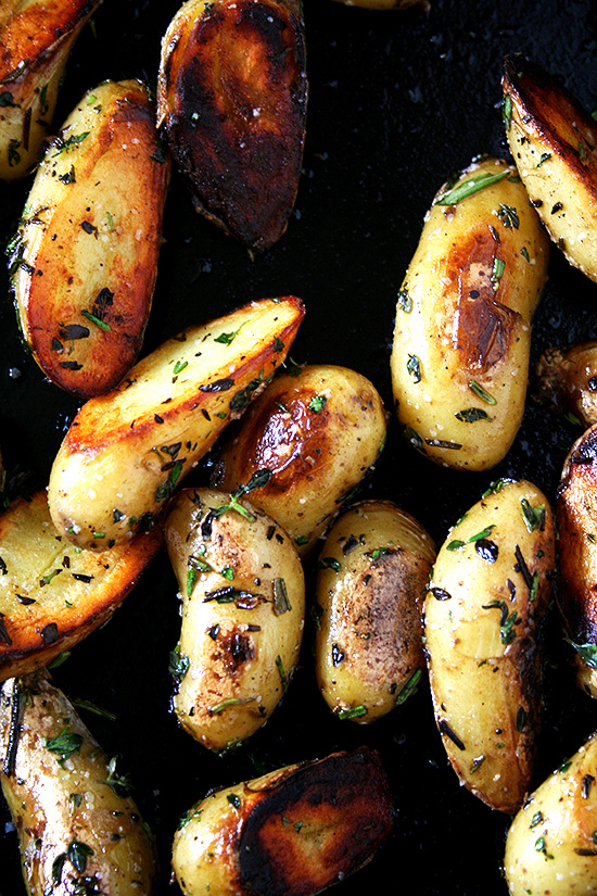 Fingerling Potatoes With Rosemary And Thyme Crispy Or Not Alexandra S Kitchen