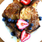 A plate of overnight French Toast.