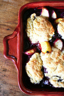 Peach-Blueberry Cobbler