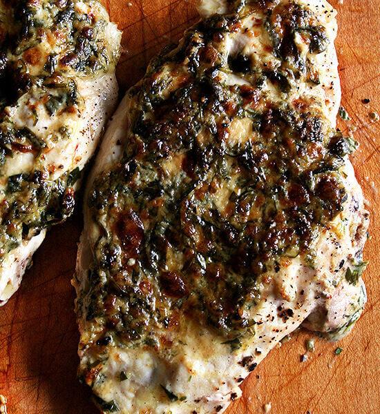 broiled tarragon chicken breasts