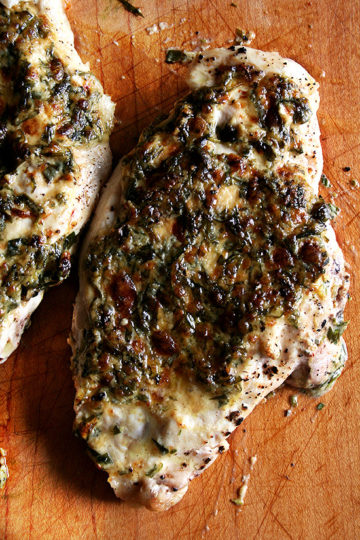 Broiled Tarragon Breasts