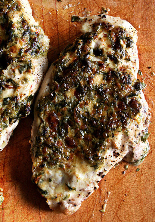 Mustard and mayonnaise combined with fresh tarragon combine to make these juicy, tender broiled tarragon chicken breasts. // alexandracooks.com