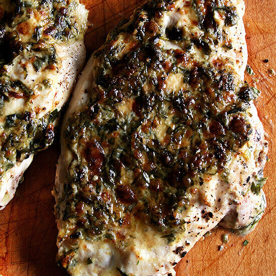 Broiled Tarragon Chicken Breasts