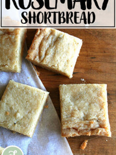 Rosemary shortbread.