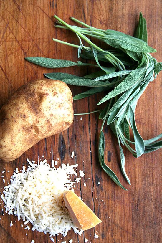 sage, potatoes and parmesan