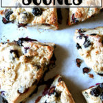 Just-baked buttermilk blueberry scones.