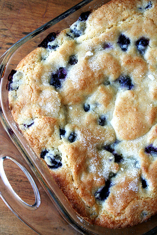 I swear buttermilk is magic. I've dwelled on this before. Buttermilk seems to turn everything to gold. Super-moist, super-delicious gold. If you're looking for a delicious, seasonal, berry cake recipe to add to your morning-treat repertoire, this amazing buttermilk blueberry breakfast cake is perfect! // alexandracooks.com