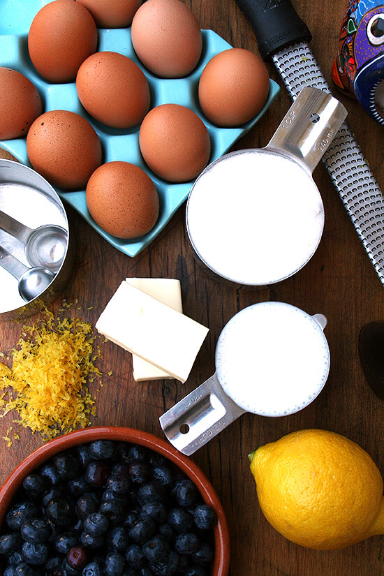Mise en place: ingredients and tools