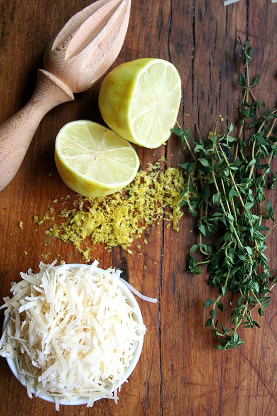 lemon & thyme & parmesan