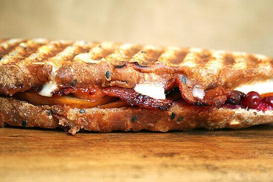 Bacon, Cheddar and Pear Panino