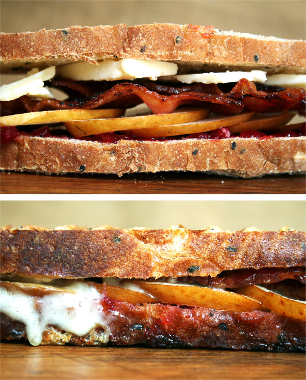 This panini offers a double pairing of sweet and salty — jam and bacon, cheddar and pear — and makes every bite worth savoring. I find the combination irresistible and even served these at a little dinner party. Casual is the new cool, right? It was fun, and at the very least, a lovely way to welcome fall. // alexandracooks.com
