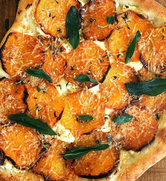 Butternut Squash and Crispy Sage Pizza, Five-Minutes-a-Day Style