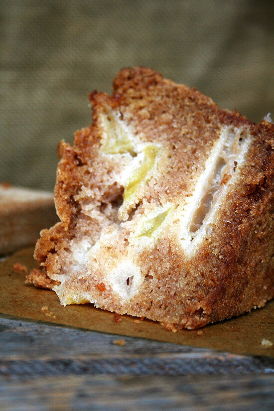 Loaded with apples, this cake is super moist and delicious. With a slice of Teddie's apple cake and a cup of coffee, a fall morning couldn't get off to a better start. // alexandracooks.com