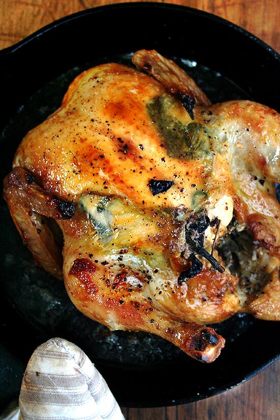 roast chicken in cast iron skillet