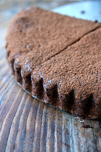 Nearly Flourless Chocolate Tart