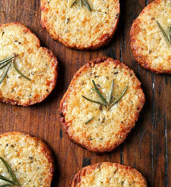 rosemary-parmesan crackers