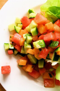 melon & cucumber salad