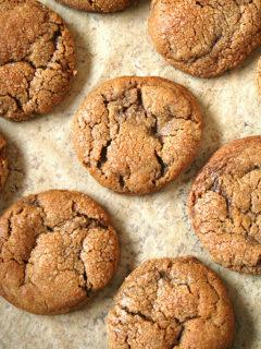The very best molasses crinkles.